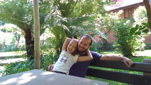 Maria e papai - Jardim